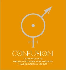Étiquette vin rouge de l'Aude : Confusion 2011