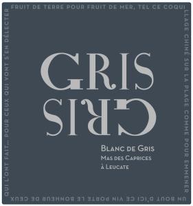 Étiquette blanc de gris : Gris Gris 2012
