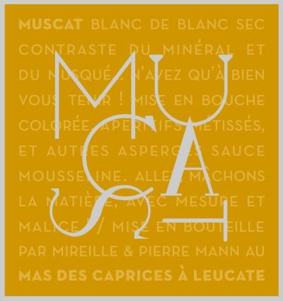 Étiquette Muscat blanc de blanc Sec
