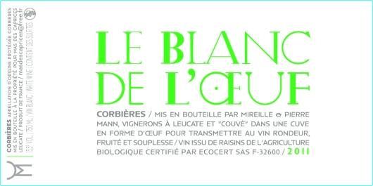 Étiquette Blanc de l'oeuf 2011