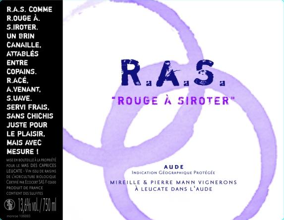 Étiquette RAS Rouge à Siroter