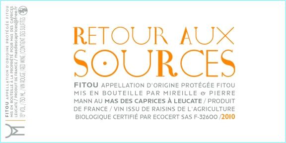 Étiquette vin de Fitou : RETOUR AUX SOURCES 2010