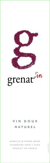 Étiquette vin doux naturel G grenat