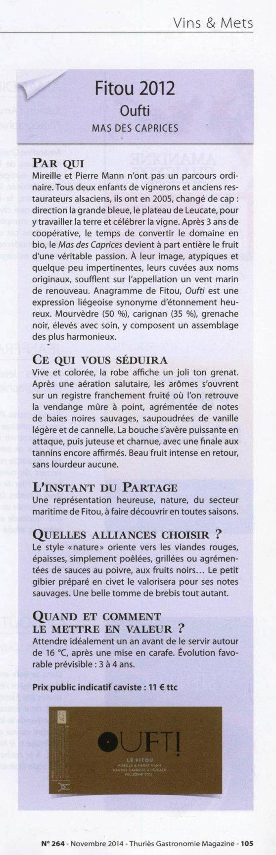Oufti sur Thuries magazine